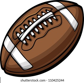 American Football Ball Template Cartoon Vector Illustrations