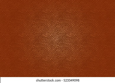 American football ball texture for sports background. Realistic vector illustration