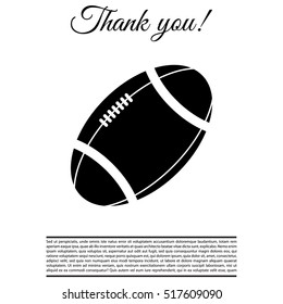American football ball vector icon.