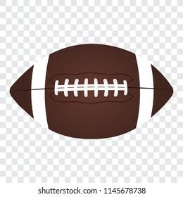 American football ball, vector illustration.