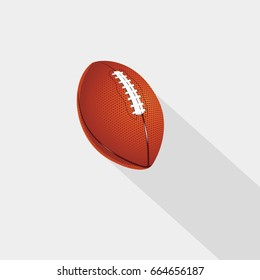 American football ball vector on white background