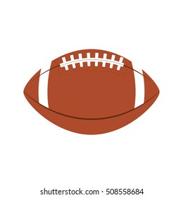 american football balloon isolated icon vector illustration design