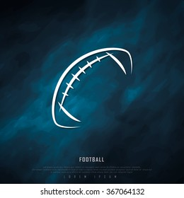 American Football Black Freehand Sketch Sparse Graphic Design Vector Illustration EPS10