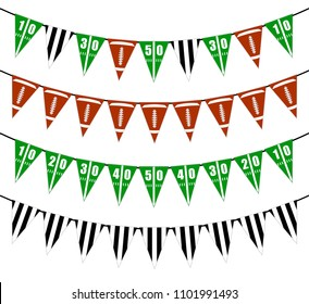 American football bunting flags party decoration