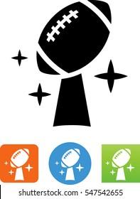 American Football Championship Trophy Icon