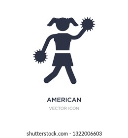 american football cheerleader jump icon on white background. Simple element illustration from American football concept. american football cheerleader jump sign icon symbol design.