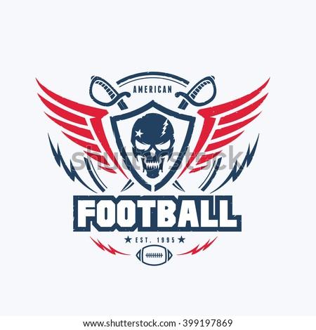 American Football Club Vector Logo Template Stock Vector Royalty