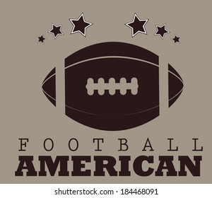 American football design over brown background, vector illustration