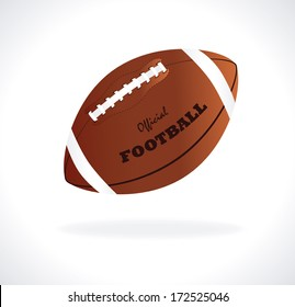 american football design over gray  background vector illustration