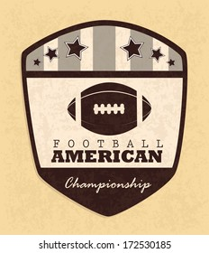 american football design over pink  background vector illustration