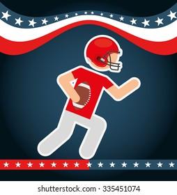 american football design, vector illustration eps10 graphic