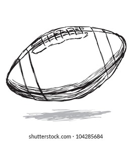 American football doodle