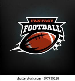 American football fantasy, logo, emblem.