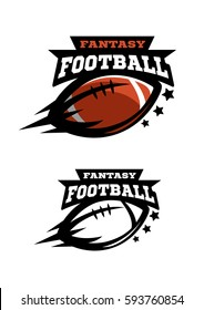 American football fantasy. Two options color and monochrome logo.