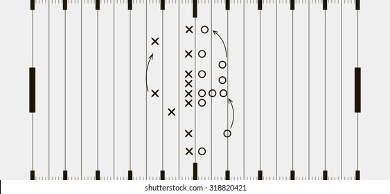 American football field background. Soccer field view from above. eps10 vector illustration in gray and black color