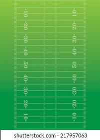 American football field background, Vector EPS 10. EPS file contains transparencies.