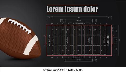 American Football field detail