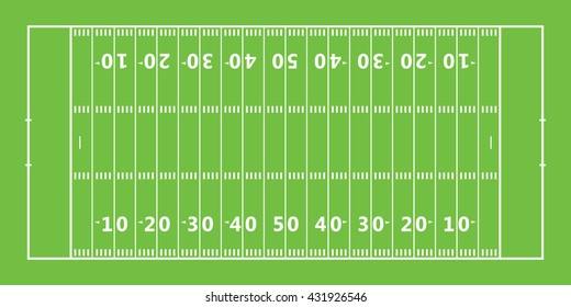 American football field icon . Vector illustration
