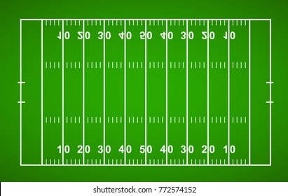 American Football Field. Textured Grass American Football Field - stock vector.