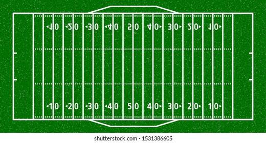 American football field for use in field construction, training, learning, simulation, competition, etc.
