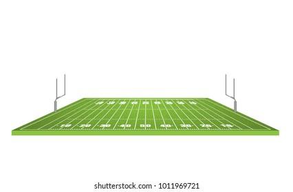 American football field, vector illustration