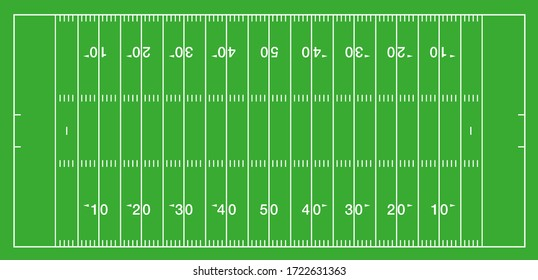 american football field vector illustration