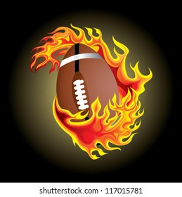 american football in flame