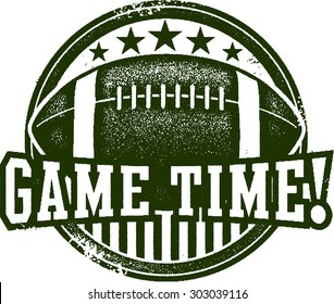 American Football Game Time Stamp