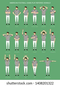 AMERICAN FOOTBALL GAME-PLAY REFEREE SIGNALS
