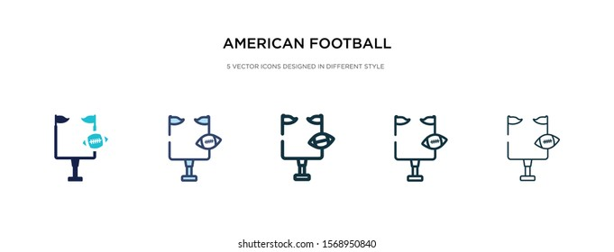 american football goal icon in different style vector illustration. two colored and black american football goal vector icons designed in filled, outline, line and stroke style can be used for web,