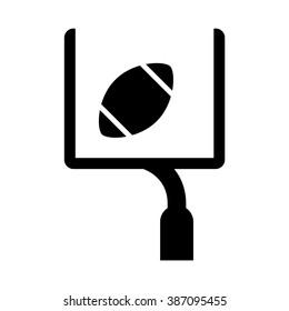 American football goal icon. Vector illustration.