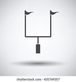American football goal post icon. Vector illustration.