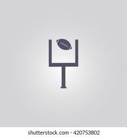 American football goal sign