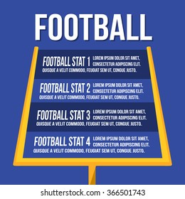 American Football Goalposts with text
