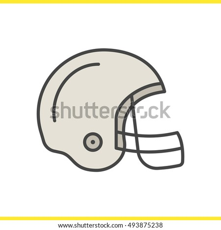 65611a64 American Football Helmet Color Icon Isolated Stock Vector Royalty