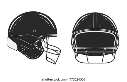American football helmet isolated on white background.