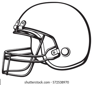 american football helmet vector illustration