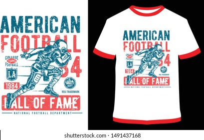 American Football, Home Run Classic - Vector graphics typographic design for poster, label, badge, logo, icon or t-shirt