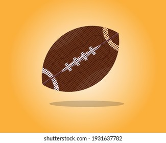 American football icon. Athletic equipment, healthy lifestyle, fitness activity. Vector illustration.