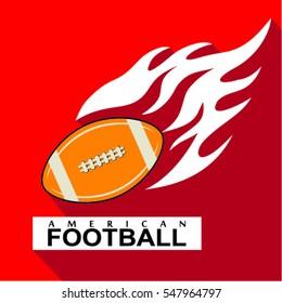 american football icon. flat design