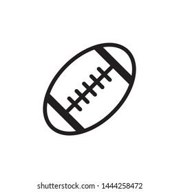 American Football Icon Flat Vector Illustration