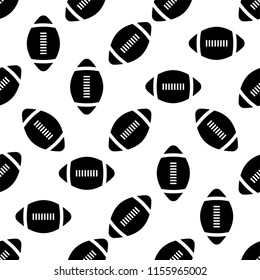 American Football Icon Seamless Pattern, Soccer Ball Seamless Pattern Vector Art Illustration