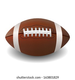 American Football Isolated. Vector