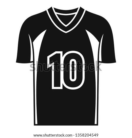8543c1e89 American football jersey icon. Simple illustration of american football  jersey vector icon for web design