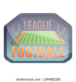 American football league logo. Cartoon of american football league vector logo for web design isolated on white background