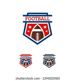 American Football logo designs Badge template, Rugby Logo badge