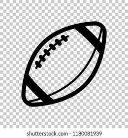 American Football logo. Simple rugby ball icon. On transparent background.
