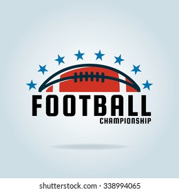 American football logo template,vector illustration