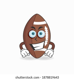 American Football mascot character with smile expression. vector illustration