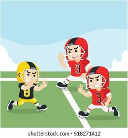 american football match illustration design